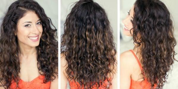 Спиральные локоны на длинных волосах