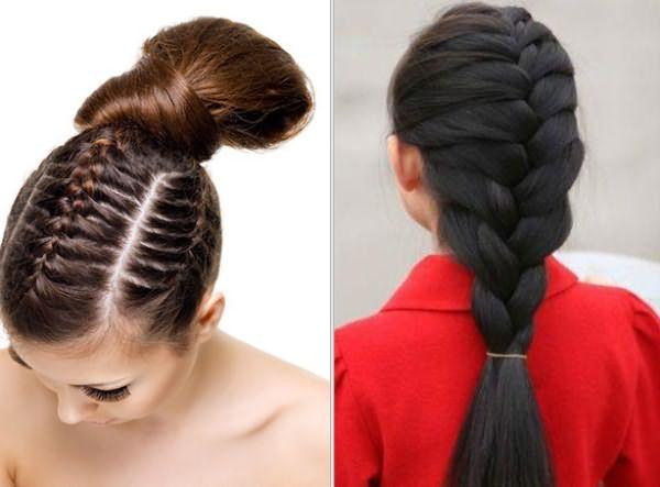 Колоски на длинные волосы