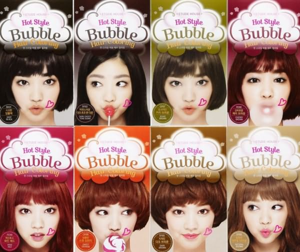 Bubble hair color