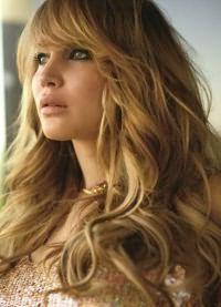 длинные волосы с косой челкой 2