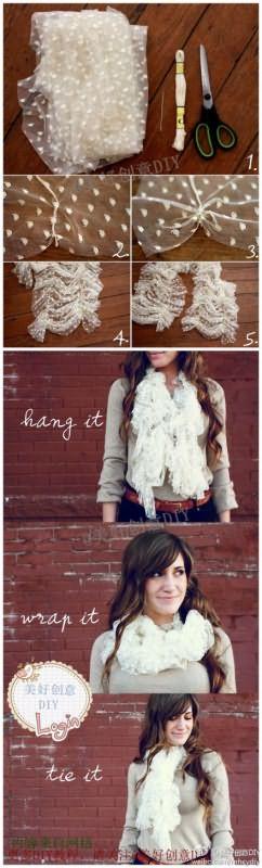 Легкий шарф своими руками