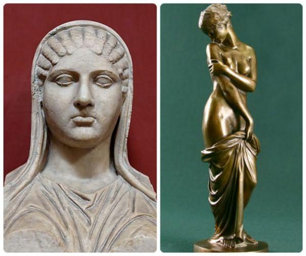 Статуи древнегреческих гетер