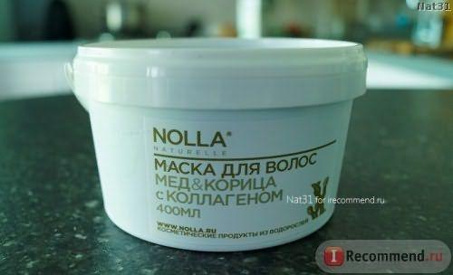 коллагеновая маска для волос NOLLA Мёд & Корица