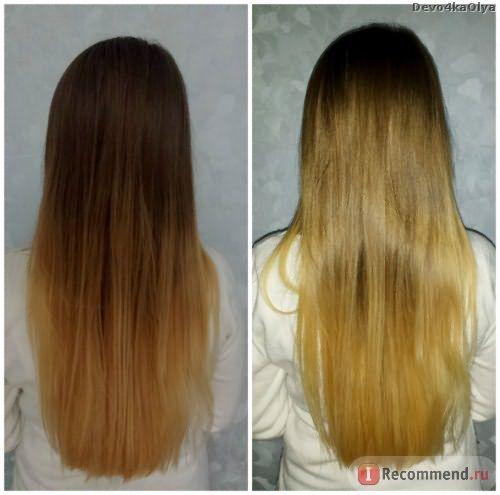 Омбре на русых волосах пудрой в домашних условиях