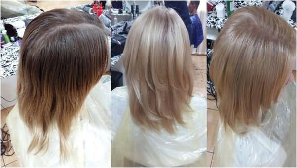 Обесвеченные волосы