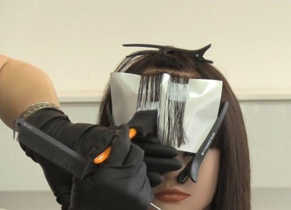 как сделать пиксельное окрашивание волос 2