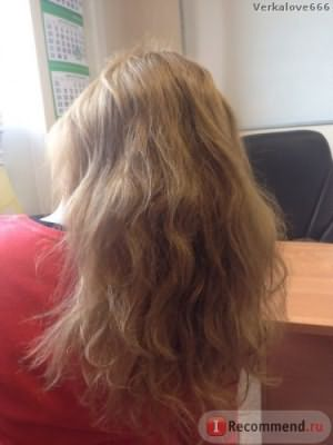 мои пористые волосы без укладки (после процедур через 1.5 мес)
