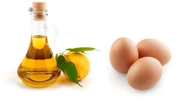 Репейное масло, лимон и яйца