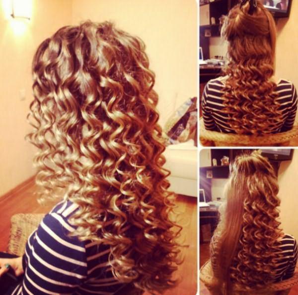Волосы, завитые прибором BaByliss