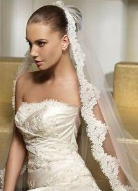 Свадебные прически на средние волосы с фатой17