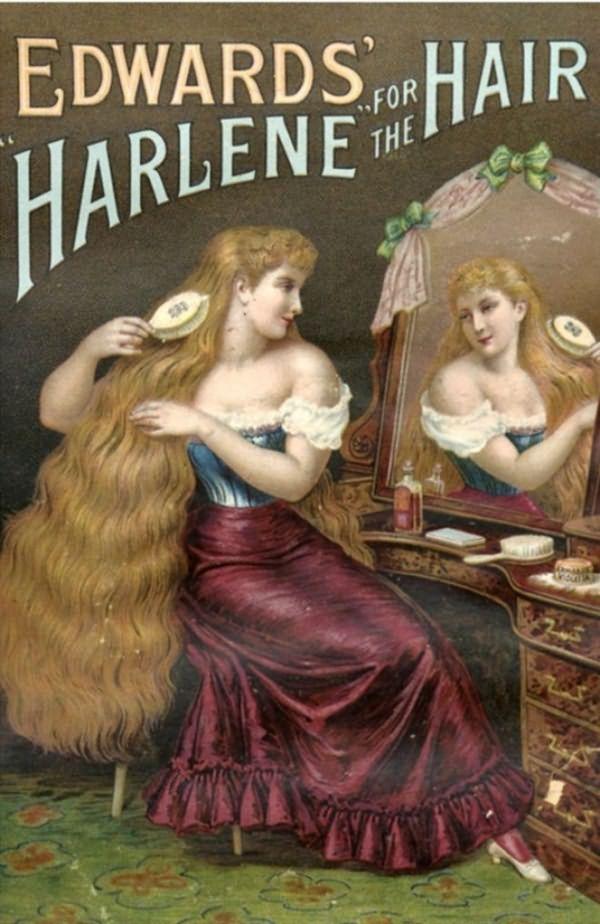 Эдвардс Harlene для волос, продукты женщин, Великобритания (1890)