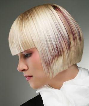 каре с челкой на тонкие волосы