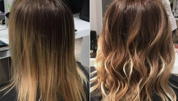Прическа до и после процедуры