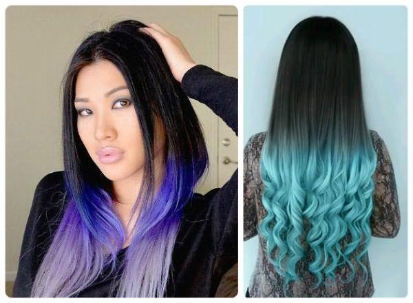 Плавный переход от черного к фиолетовому