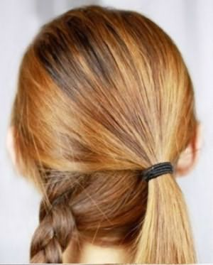 Расположение косы и хвостика.