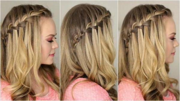 как плести водопад из волос пошаговая инструкция самой себе