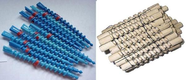 Пластиковые и деревянные спиральные бигуди