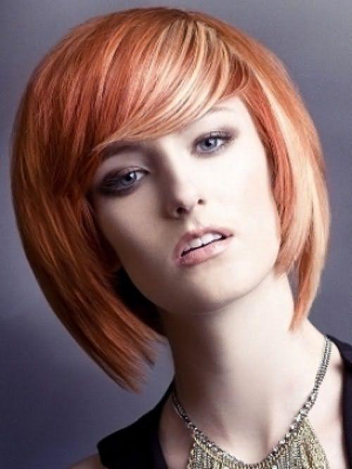 Белое мелирование на рыжие волосы