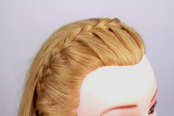 Пример односторонней косички-ободка