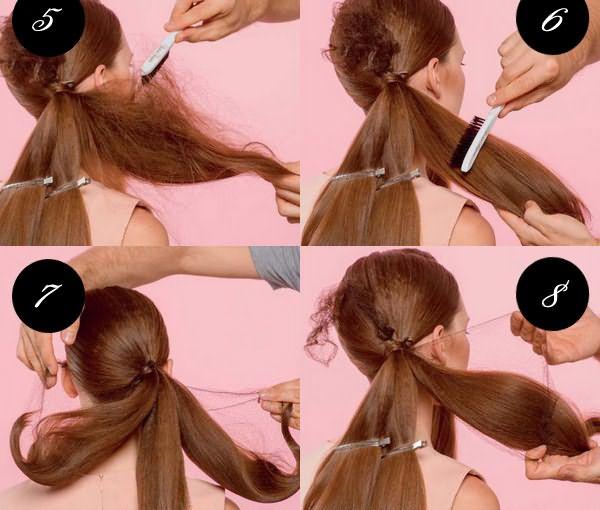 Как сделать прическу с сеточкой: шаги 5-8