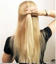 Как сделать бант из волос: шаг 2