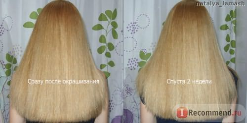 Волосы сразу после окрашивания Nouvelle Hair Color 9.39