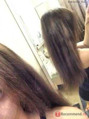 волосы после мытья и сушки феном ДО лака