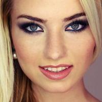 макияж для русых с серо голубыми глазами 1