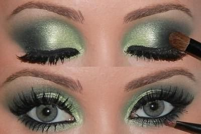 какой макияж подходит зеленым глазам