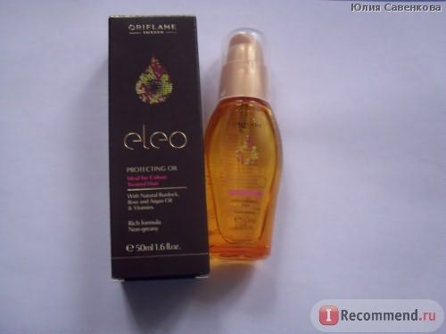 Защитное масло для волос Oriflame Eleo фото
