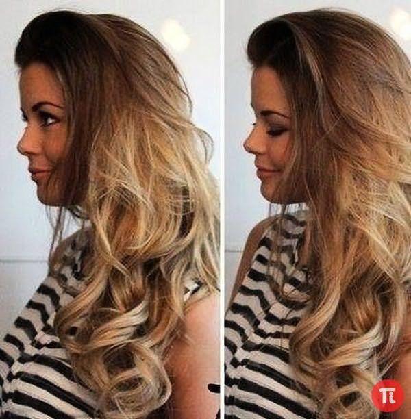 Прическа на русые волосы длинные