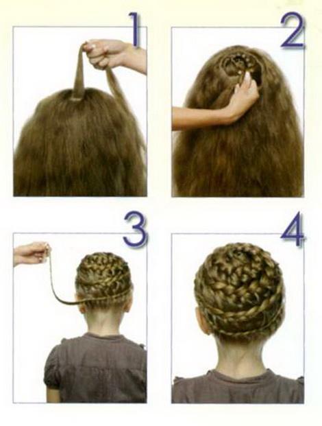 Процесс создания плетёной причёски
