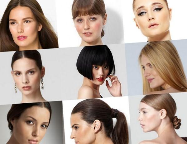 Женщины с разным типом волос