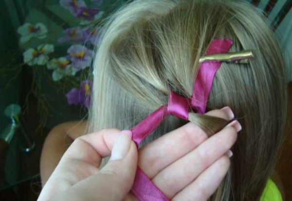 Процесс воссоздания извилистой косы: шаг 4
