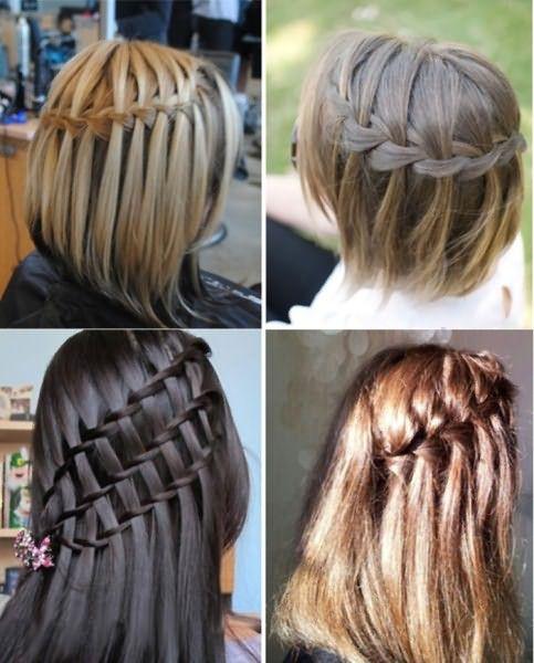Прическа водопад на волосах разной длины