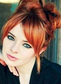 рыжие волосы зеленые глаза 8