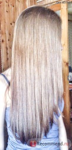 высохшие естественным петем волосы + вспышка