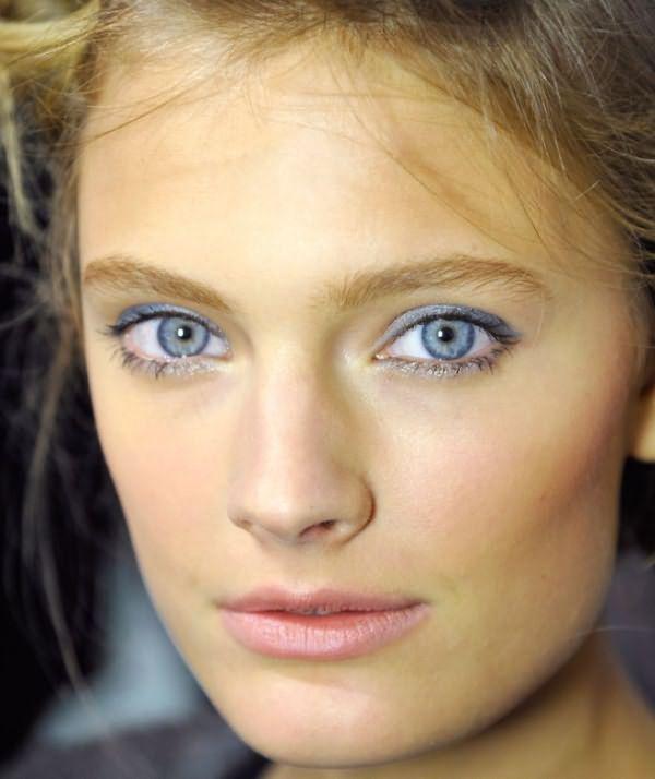 Дневной макияж для голубых глаз 2