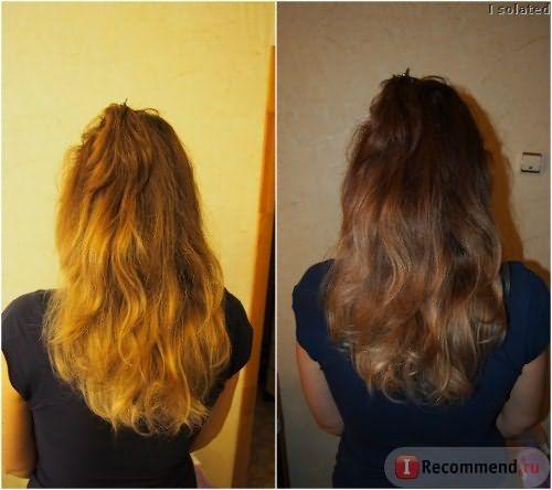 Волосы ДО ламинирования без вспышки и со вспышкой
