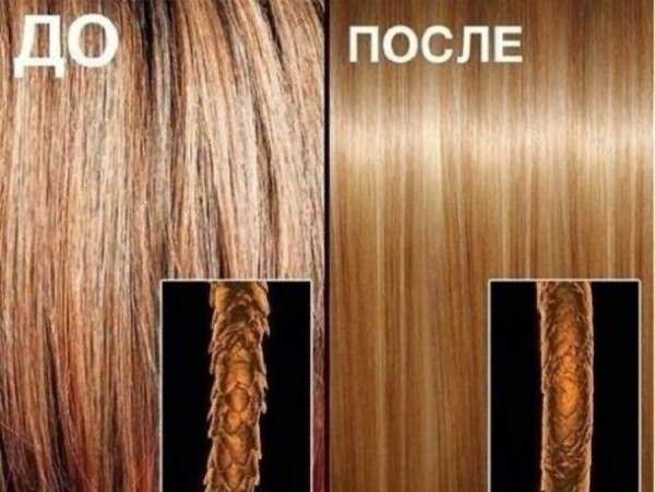 Вид волос до и после процедуры: фото