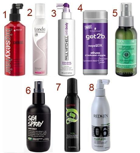Стайлинговые средства для волос, которые чаще всего применяются для создания причесок данным методом.