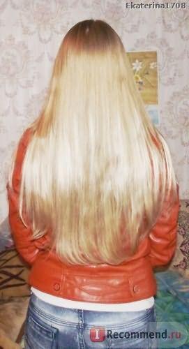 в процессе роста своего цвета волос