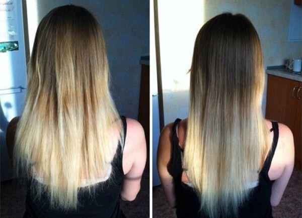 Волосы до и после термострижки
