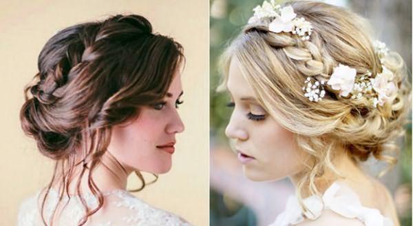 Свадебные прически с короной можно дополнять живыми цветами, или фатой — это придаст образу невесты легкость и романтичность