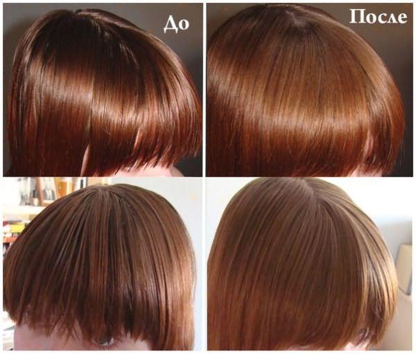Волосы до и после использования сухого шампуня