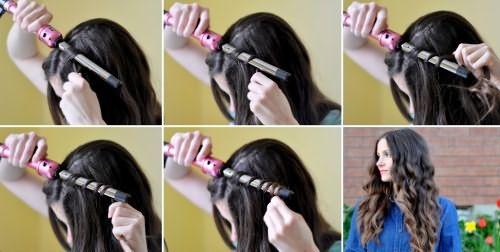 Фото-инструкция, как накручивать волосы на плойку