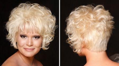 Завивка на короткие волосы