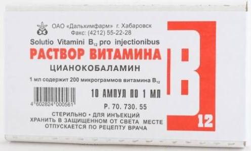 Цианокобаламин в ампулах