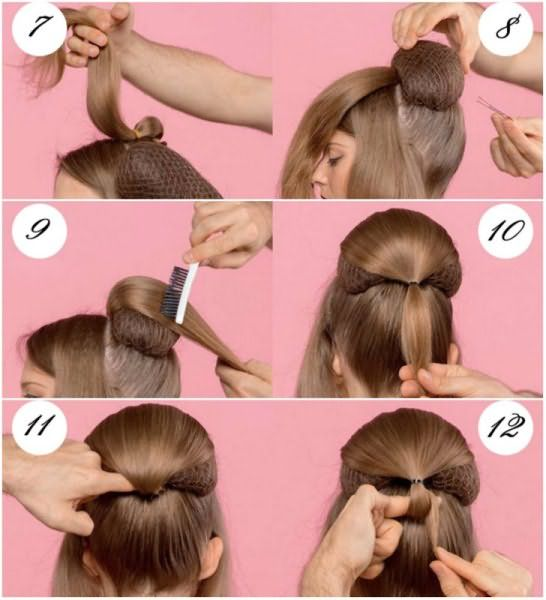 Фиксация парикмахерского валика