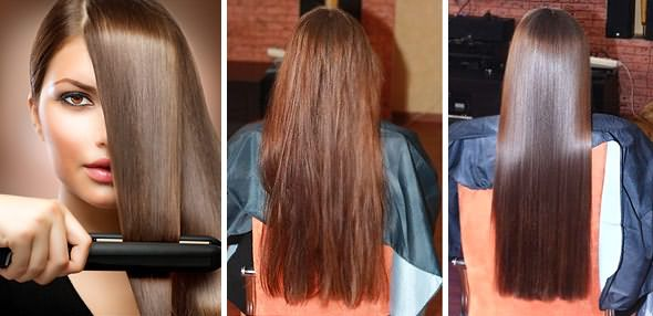 Фото: до и после термической обработки шевелюры